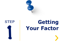Navigation icon: Step 1 Getting Your Factor
