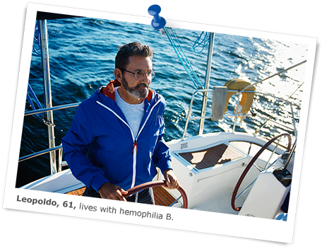 Leopoldo lives with hemophilia B and is sailing
